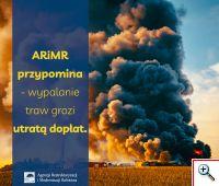 ARiMR przypomina - wypalanie traw grozi utratą dopłat - informacja prasowa